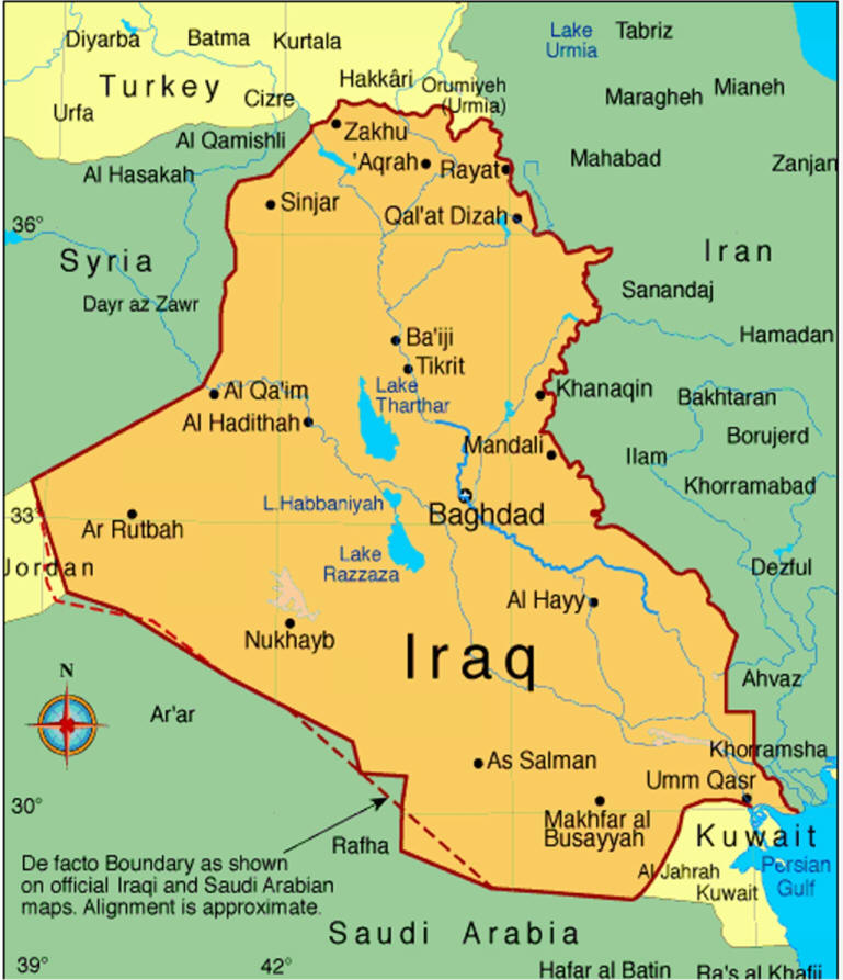 Iraq History - Where is kuwait